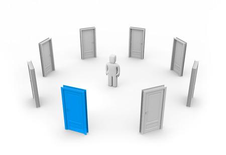 make a choice: Make a correct choice. 3d illustration