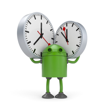 display machine: Time management. 3d illustration