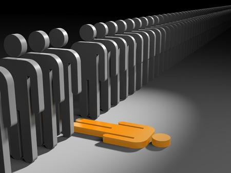 individual: When the leadership burdens - metaphor Stock Photo
