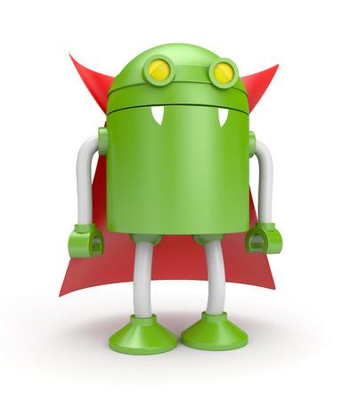 Robot vampire. 3d illustration