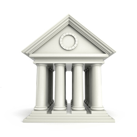 ionic: Building in antiques style. 3d illustration Stock Photo