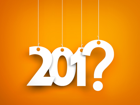 misfortune: What year next? New year metaphors. 3d illustration