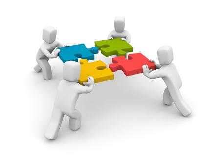 personas: Concepto de negocio. Aislados en blanco
