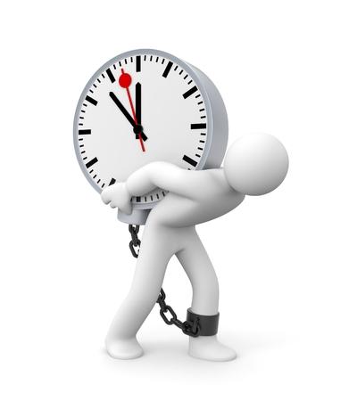時計にチェーン 3 D 男 写真素材