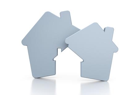 conceptual symbol: Real estate agency. Conceptual symbol Stock Photo