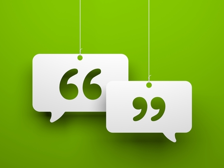 quotation: Chat metaphor - symbols hanging on the strings