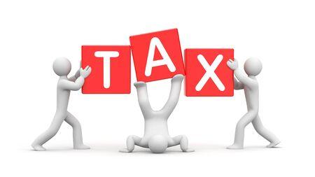 Creative tax solution. Custom tax. 3d illustration