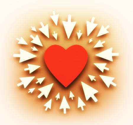 Liefde achtergrond. Illustratie voor Valentijnsdag