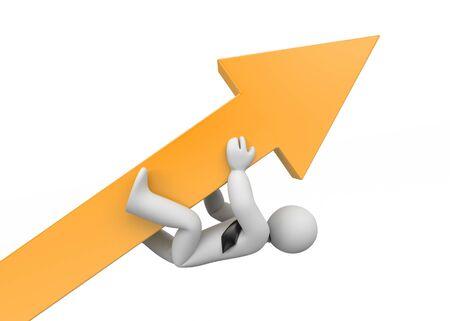 privilege: Persistence in achieving goals. Advantage. 3d illustration Stock Photo