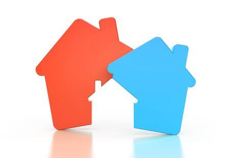 Real estate agency. Business metaphor. 3d illustration