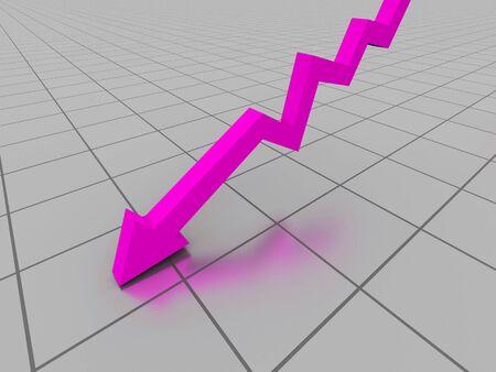reverse: Business graph. 3d illustration Stock Photo
