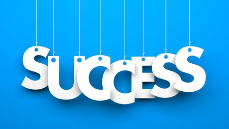 Success - word hanging on the ropes