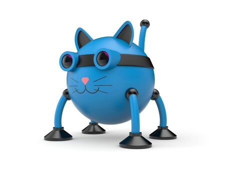 The cat robot. 3d illustration Stock Photo