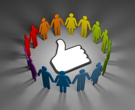 Social network concept. 3d illustration