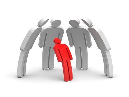 Boss and employee subordinates. 3d illustration Фото со стока