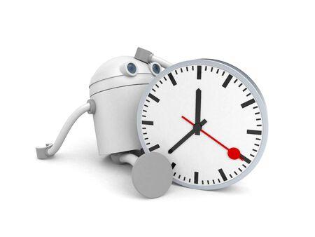 Time management. Lost time. 3d illustration