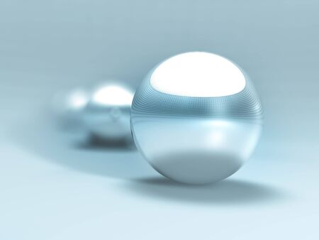 3D Chrome Balls Stock Photo