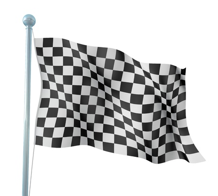Detail Finish Flag  Stock Photo - 14905575
