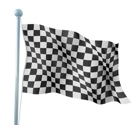 cuadros blanco y negro: Detalle final de bandera Foto de archivo