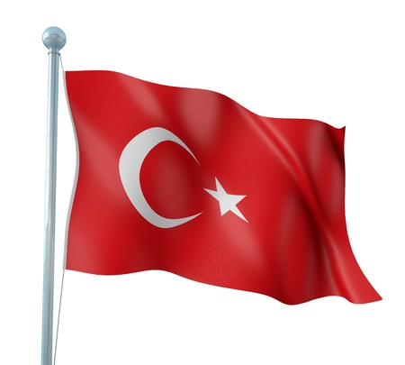 Turkey Flag Detail Render