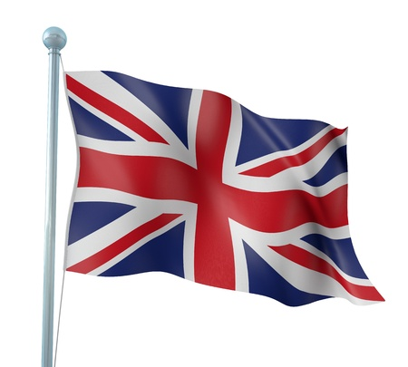 United Kingdom Flag Detail Render