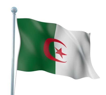 Algeria Flag Detail Render Stock Photo - 14905606