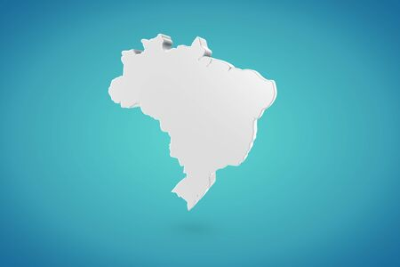 Brasil Map Stock Photo