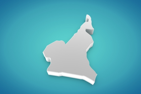 cameroon: Cameroon Map Stock Photo