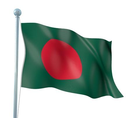 national flag bangladesh: Bangladesh Flag Detail Render