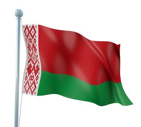 belarus: Belarus Flag Detail Render