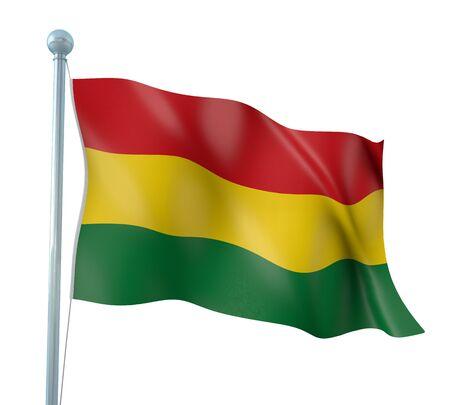 Bolivia Flag Detail Render photo