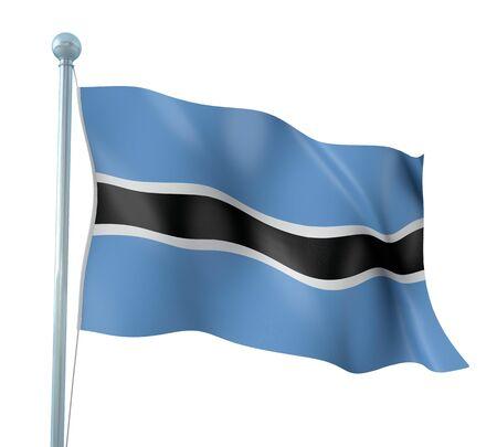 botswana: Botswana Flag Detail Render