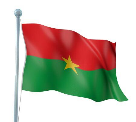 burkina faso: Burkina Faso Flag Detail Render Stock Photo