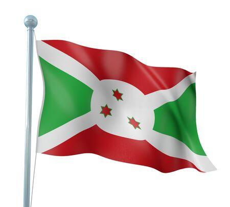 burundi: Burundi Flag Detail Render