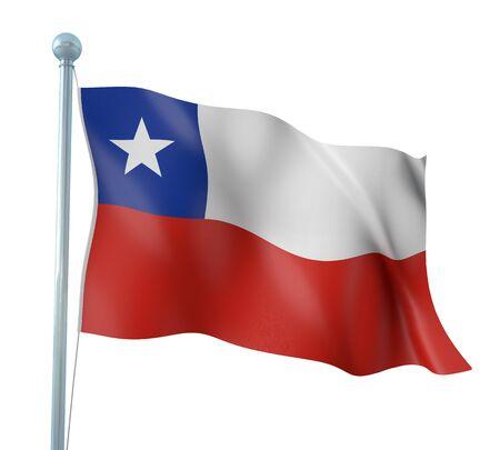 bandera chile: Chile Flag Detalle Render
