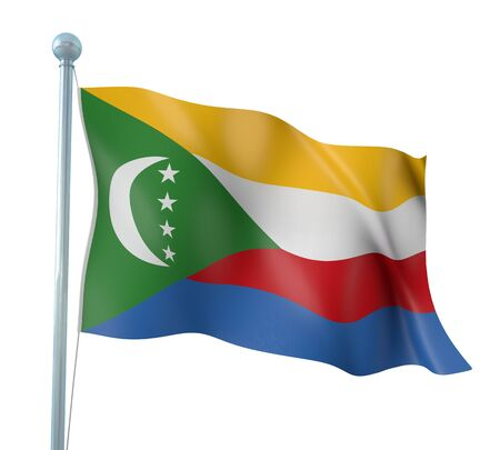 comoros: Comoros Flag Detail Render