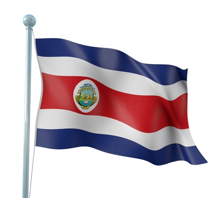 Costa Rica Flag Detail Render
