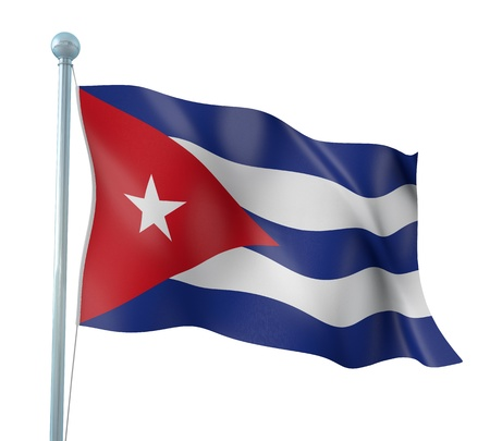 Cuba Flag Detail Render photo
