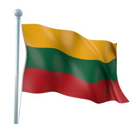 lithuania flag: Lithuania Flag Detail Render