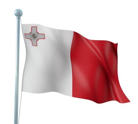 malta flag: Malta Flag Detail Render
