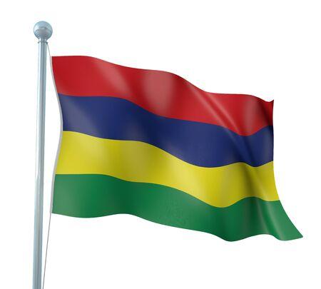 mauritius: Mauritius Flag Detail Render