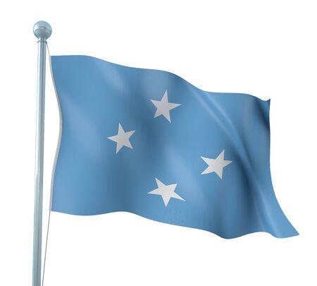 micronesia: Micronesia Flag Detail Render