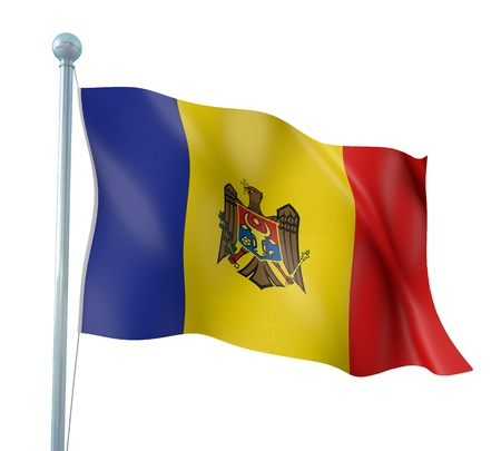 Moldova Flag Detail Render photo