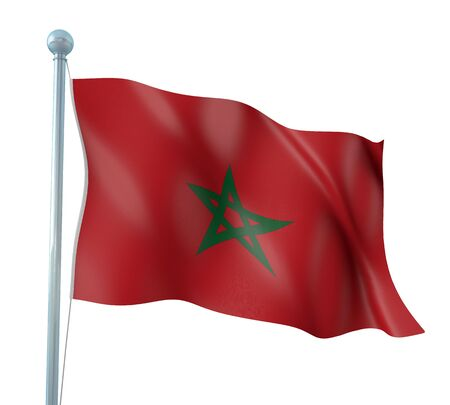 Morocco Flag Detail Render