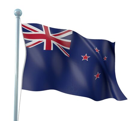 New Zealand Flag Detail Render photo