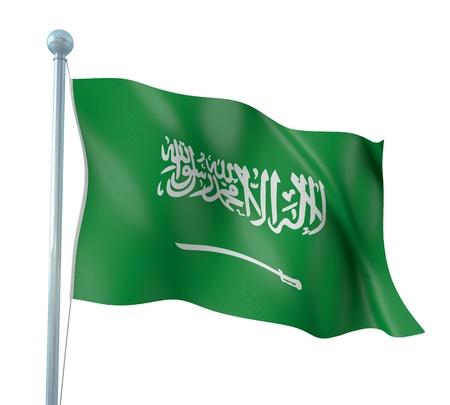 Saudi Arabia Flag Detail Render