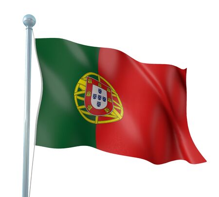 Portugal Flag Detail Render photo