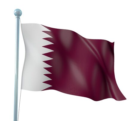 Qatar Flag Detail Render