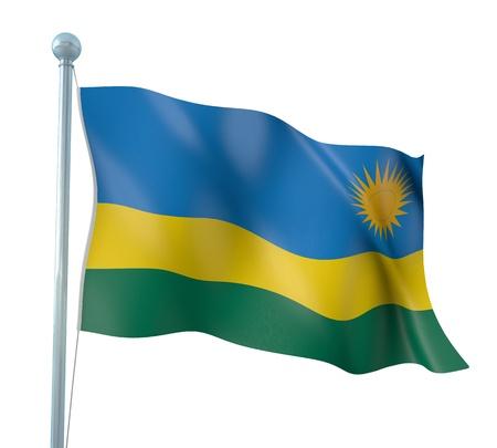 rwanda: Rwanda Flag Detail Render