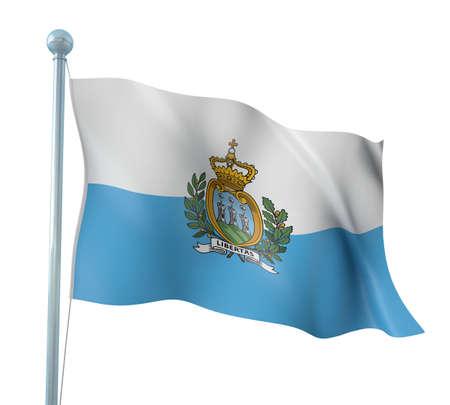 san marino: San Marino Flag Detail Render
